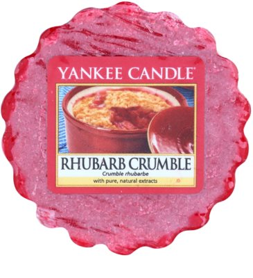 Yankee Candle Rhubarb Crumble Wachs für Aromalampen