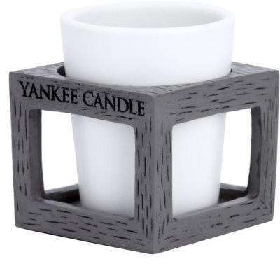Yankee Candle Rustic Modern Kerámia gyertyatartó fogadalmi gyertyához    (Grey) 1