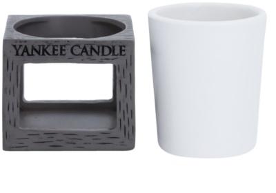 Yankee Candle Rustic Modern Kerámia gyertyatartó fogadalmi gyertyához    (Grey) 2