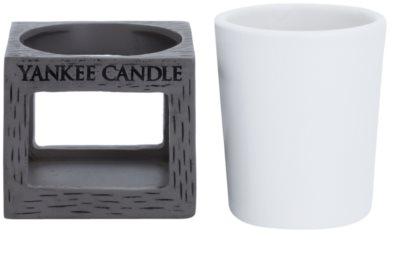 Yankee Candle Rustic Modern Candeeiro em cerâmica para vela    (Grey) 2