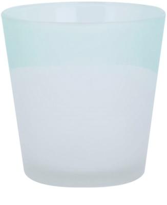 Yankee Candle Serene Sandlblast Стъклен свещник с вотивна свещ    (Aqua)