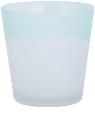 Yankee Candle Serene Sandlblast Üveg gyertyatartó fogadalmi gyertya alá    (Aqua)