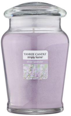 Yankee Candle Silver Lavender vela perfumado  intermédio