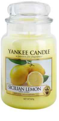 Yankee Candle Sicilian Lemon dišeča sveča   Classic velika