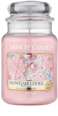 Yankee Candle Snowflake Cookie vonná svíčka  Classic velká