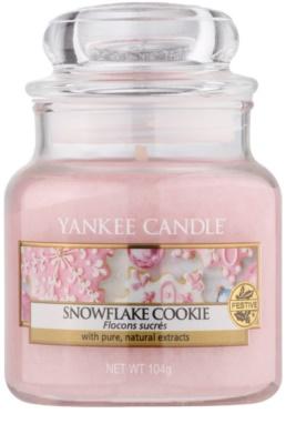 Yankee Candle Snowflake Cookie ароматизована свічка   Classic  середня