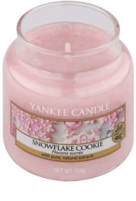 Yankee Candle Snowflake Cookie ароматизована свічка   Classic  середня 1