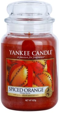 Yankee Candle Spiced Orange ароматна свещ   Classic голяма