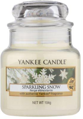 Yankee Candle Sparkling Snow ароматизована свічка   Classic  маленька