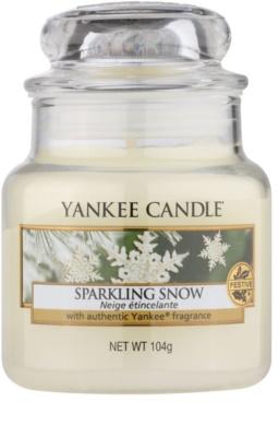 Yankee Candle Sparkling Snow vela perfumado  Classic pequeno