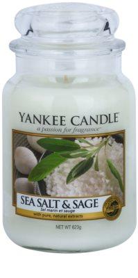 Yankee Candle Sea Salt & Sage ароматизована свічка   Classic велика