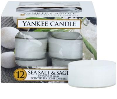 Yankee Candle Sea Salt & Sage čajová svíčka