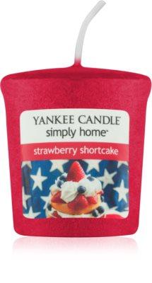 Yankee Candle Strawberry Shortcake votivní svíčka