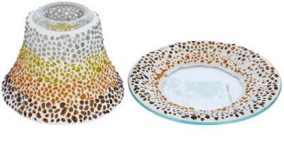 Yankee Candle Sunset Mosaic комплект декоративна чиния и капак за свещ   за водна свещ Classic малка