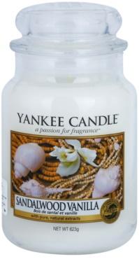 Yankee Candle Sandalwood Vanilla vela perfumada   Classic grande