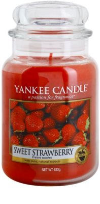 Yankee Candle Sweet Strawberry Duftkerze   Classic groß