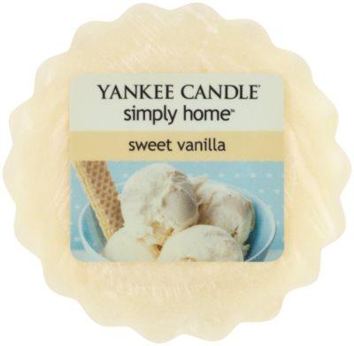 Yankee Candle Sweet Vanilla ceară pentru aromatizator
