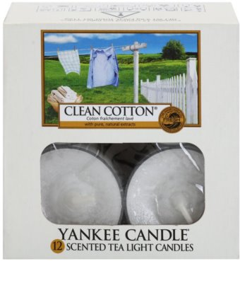 Yankee Candle Clean Cotton Teelicht 1