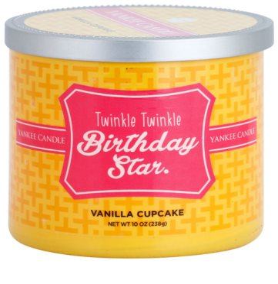 Yankee Candle Vanilla Cupcake vela perfumado   (Twinkle Twinkle Birthday Star)