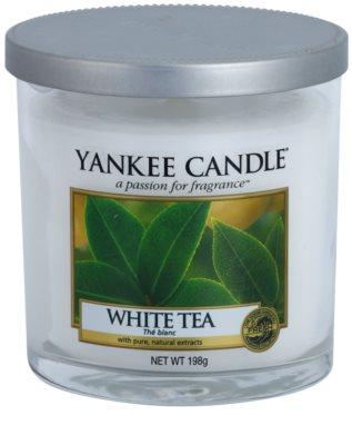 Yankee Candle White Tea Duftkerze   Décor mittel