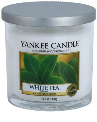 Yankee Candle White Tea illatos gyertya   Décor közepes
