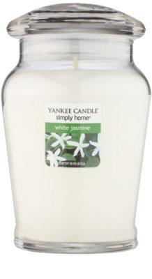 Yankee Candle White Jasmine Duftkerze   mittlere