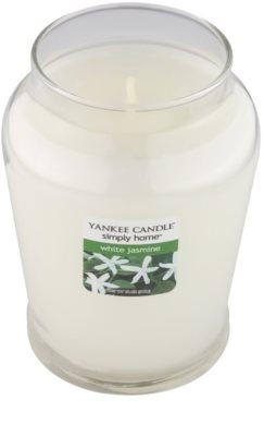 Yankee Candle White Jasmine Scented Candle  Medium 1