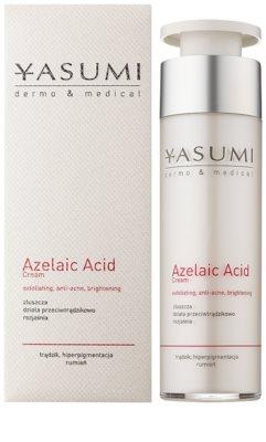 Yasumi Dermo&Medical Azelaic Acid die beruhigende Creme für empfindliche Haut mit Neigung zu Akne 1