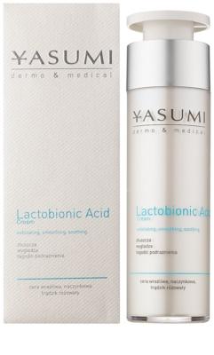 Yasumi Dermo&Medical Lactobionic Acid crema facial para pieles sensibles con tendencia a las rojeces 1