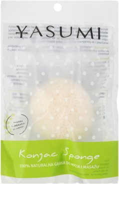 Yasumi Konjak Pearl esponja suave de limpieza apto para pieles sensibles
