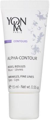 Yon-Ka Contours Alpha erneuerndes Gel gegen Falten für Augen - und Lippenkonturen
