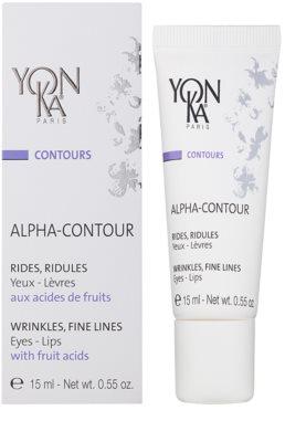 Yon-Ka Contours Alpha erneuerndes Gel gegen Falten für Augen - und Lippenkonturen 1