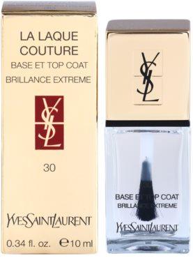 Yves Saint Laurent La Laquer Couture fedő lakk a körmökre a tökéletes védelemért és intenzív fényért 1
