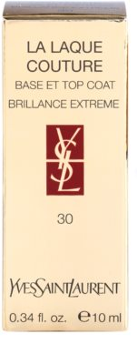 Yves Saint Laurent La Laquer Couture fedő lakk a körmökre a tökéletes védelemért és intenzív fényért 2