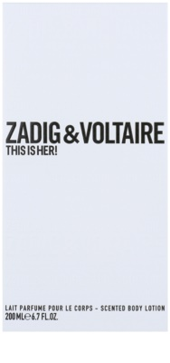Zadig & Voltaire This Is Her! leite corporal para mulheres 1