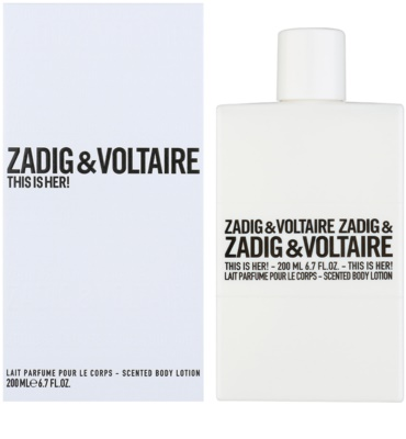 Zadig & Voltaire This Is Her! leite corporal para mulheres