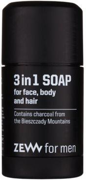 Zew For Men natürliche feste Seife für Gesicht, Körper und Haare 3 in1