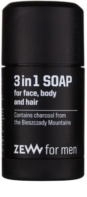 Zew For Men natürliche feste Seife für Gesicht, Körper und Haare 3in1