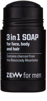 Zew For Men natürliche feste Seife für Gesicht, Körper und Haare 3 in1 1