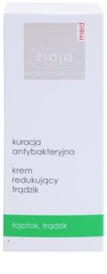 Ziaja Med Antibacterial Care creme leve para regularizar a produção de sebo da pele com acne 2