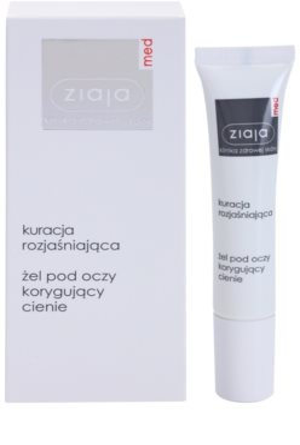 Ziaja Med Eye Care гель для шкіри навколо очей проти темних кіл 1