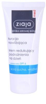 Ziaja Med Hydrating Care beruhigende Tagescreme für empfindliche und trockene Haut SPF 6