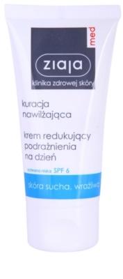 Ziaja Med Hydrating Care denní zklidňující krém pro citlivou a suchou pleť SPF 6