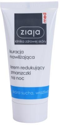 Ziaja Med Hydrating Care Nachtcreme gegen Falten für empfindliche trockene Haut