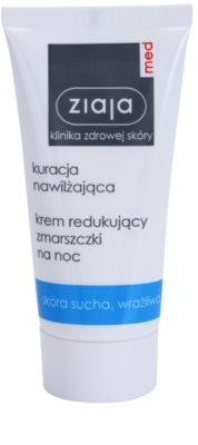 Ziaja Med Hydrating Care нощен крем против бръчки  за чувствителна и суха кожа