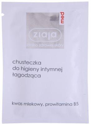 Ziaja Med Intimate Hygiene łagodząca chusteczka do higieny intymnej