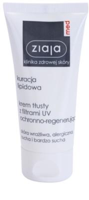 Ziaja Med Lipid Care tápláló és védőkrém regeneráló hatással
