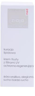 Ziaja Med Lipid Care tápláló és védőkrém regeneráló hatással 2