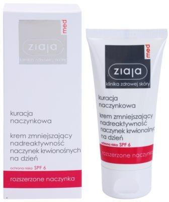 Ziaja Med Capillary Care creme hidratante leve para pele sensível e propensa a vermelhidão SPF 6 1