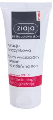 Ziaja Med Capillary Care nährende und beruhigende Creme für empfindliche Haut mit Neigung zum Erröten SPF 10